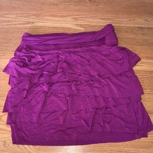 Loft ruffled skirt